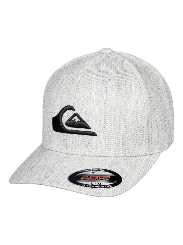 0 Mountain And Wave - Flexfit Cap Grau AQYHA03978 Quiksilver