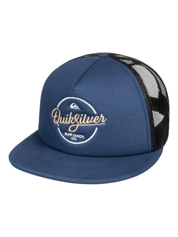 0 Turnstyles - Trucker Cap Blau AQYHA03993 Quiksilver
