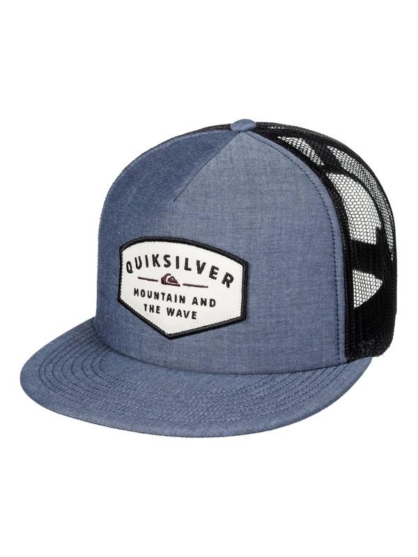 0 Sass Master - Cappellino Trucker Blue AQYHA03995 Quiksilver