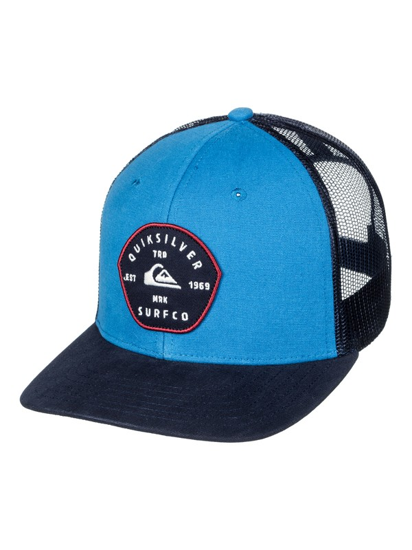 0 Blocked Out - Cappellino Trucker Blue AQYHA03998 Quiksilver