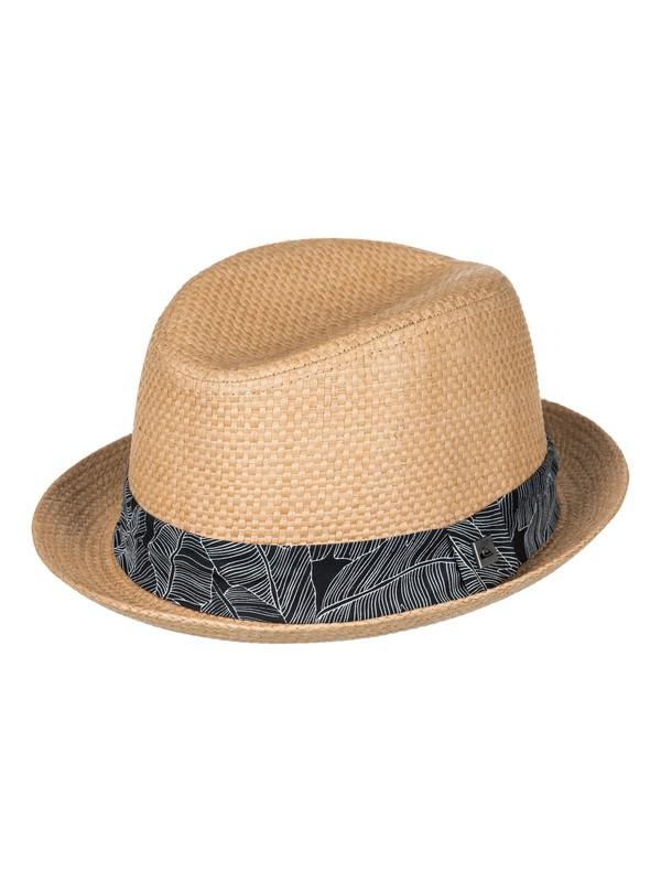 0 Schralpsten - Sombrero Borsalino de Paja Marron AQYHA04026 Quiksilver
