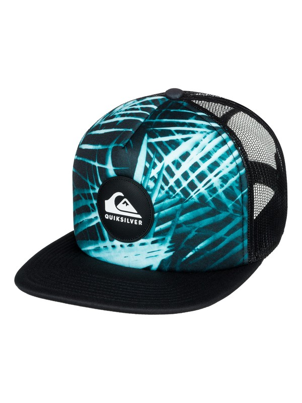 0 Faded Out - Trucker Hat Blue AQYHA04070 Quiksilver