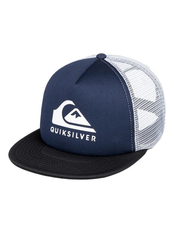 0 Foamslay - Trucker Cap Blau AQYHA04196 Quiksilver