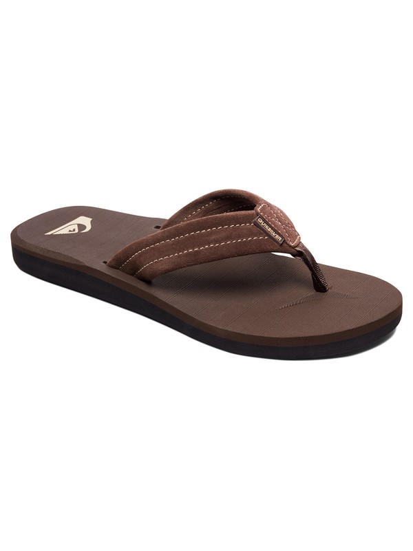 0 Carver Suede - Sandals Brown AQYL100030 Quiksilver