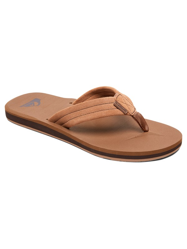 0 Carver - Leather Sandals Beige AQYL100030 Quiksilver