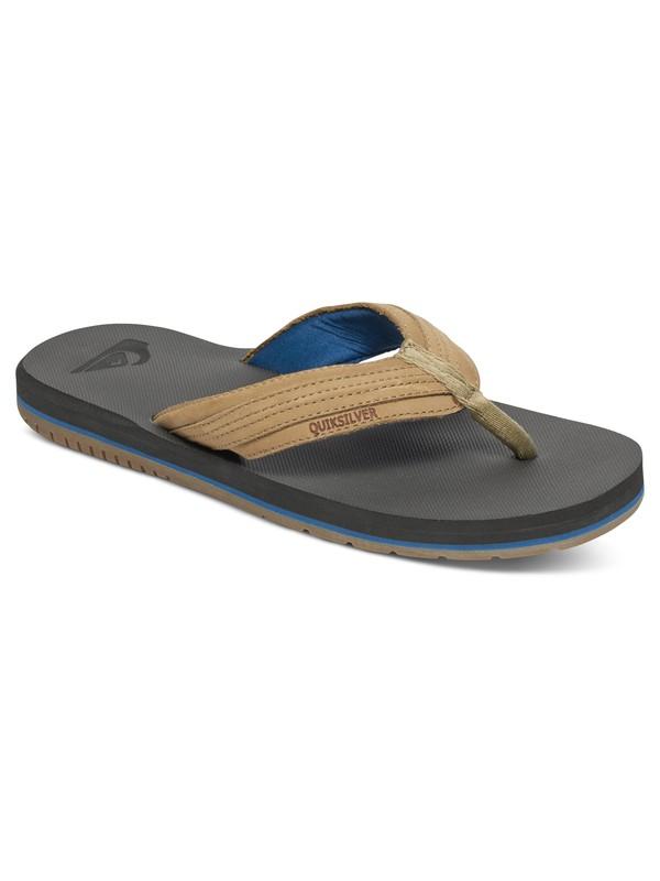 0 Coastal Oasis - Leather Sandals Brown AQYL100033 Quiksilver