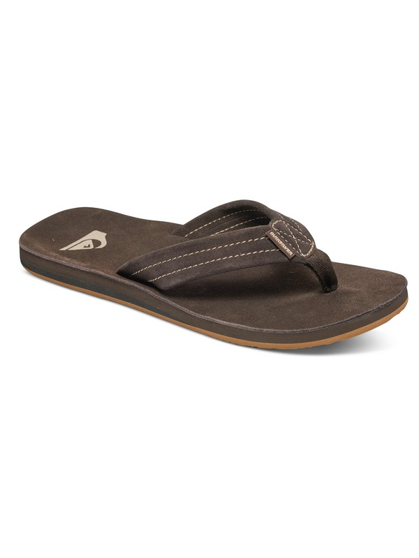 0 Carver Suede Deluxe Sandals Brown AQYL100244 Quiksilver