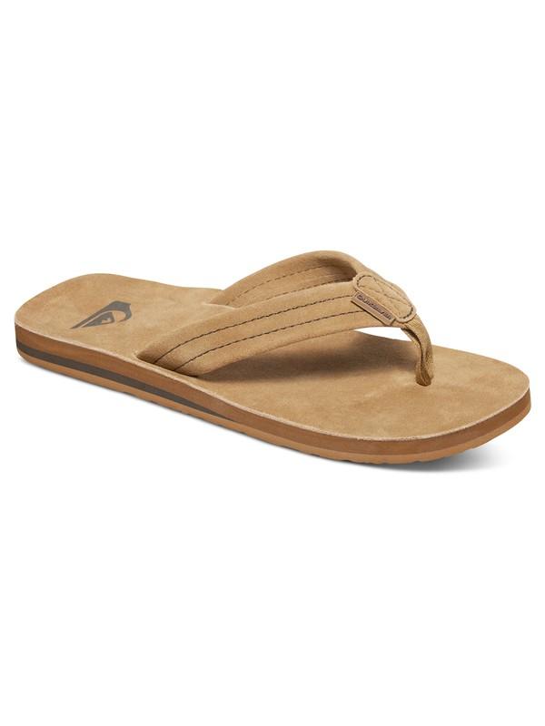0 Carver Suede Deluxe Sandals Beige AQYL100244 Quiksilver