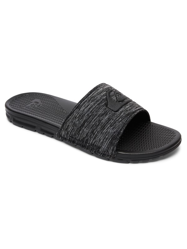 0 Shoreline Print - Slide Sandals Grey AQYL100275 Quiksilver