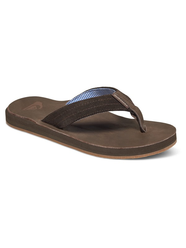 0 Carver - Suede Sandals Brown AQYL100375 Quiksilver