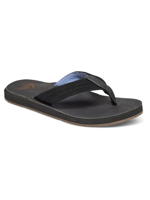 0 Carver - Suede Sandals Black AQYL100375 Quiksilver
