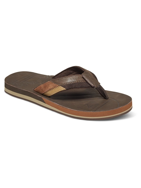0 Hiatus - Leather Sandals Brown AQYL100402 Quiksilver