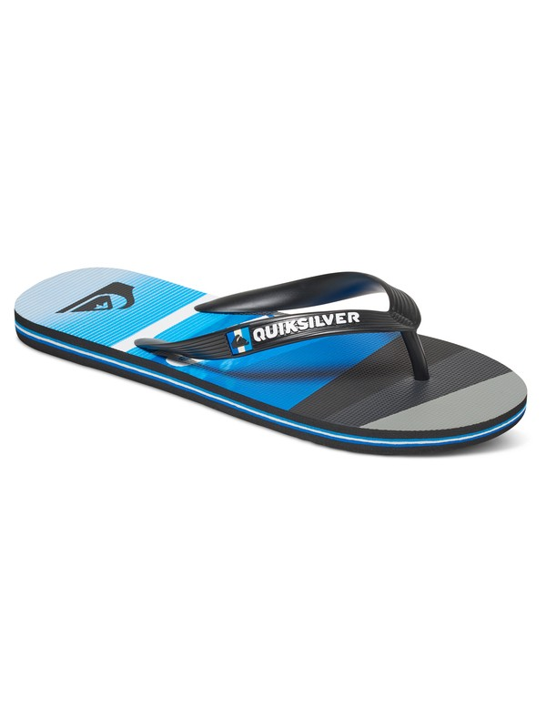 0 Molokai Slash Logo - Tongs Noir AQYL100408 Quiksilver