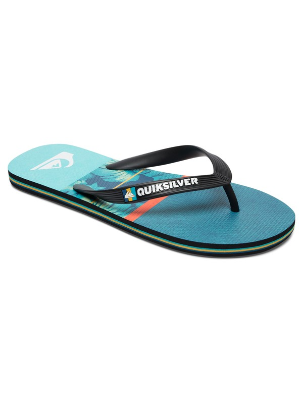 0 Molokai Carrillo - Tongs Noir AQYL100486 Quiksilver