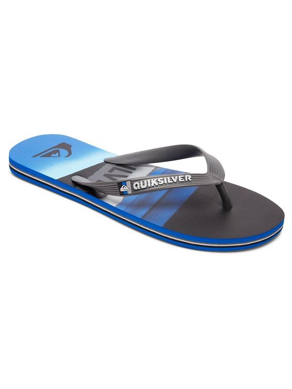 0 Molokai Slash Logo - Slippers Black AQYL100491 Quiksilver
