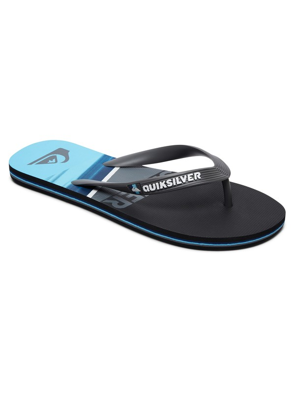 0 Molokai Slash Logo Sandals Black AQYL100491 Quiksilver