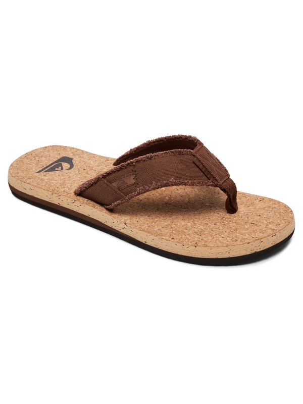 0 Monkey Abyss Cork - Tongs Beige AQYL100622 Quiksilver
