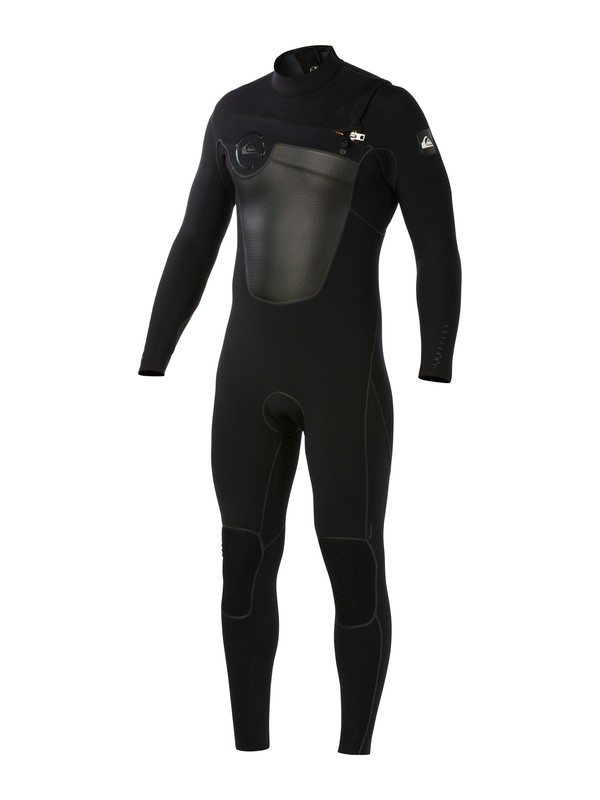 0 FuseFlex 4.5/4 Chest Zip Wetsuit Black AQYW103013 Quiksilver