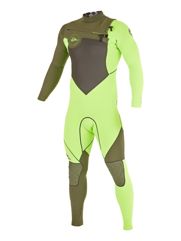 0 AG47 Performance 3/2mm - Chest Zip Wetsuit Green AQYW103033 Quiksilver