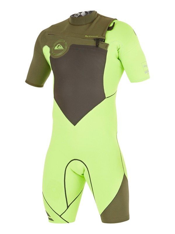 0 AG47 Performance 2/2mm - Springsuit manches courtes zip poitrine Vert AQYW503012 Quiksilver