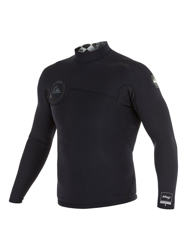 0 AG47 Performance 2mm - Top de combinaison Noir AQYW803013 Quiksilver