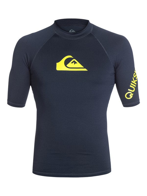 0 All Time Short Sleeve Rash Vest - Lycra manches courtes  AQYWR03000 Quiksilver