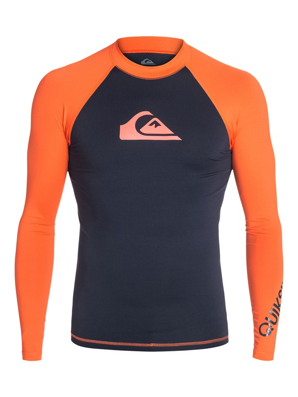 0 All Time Long Sleeve Rashguard Blue AQYWR03001 Quiksilver