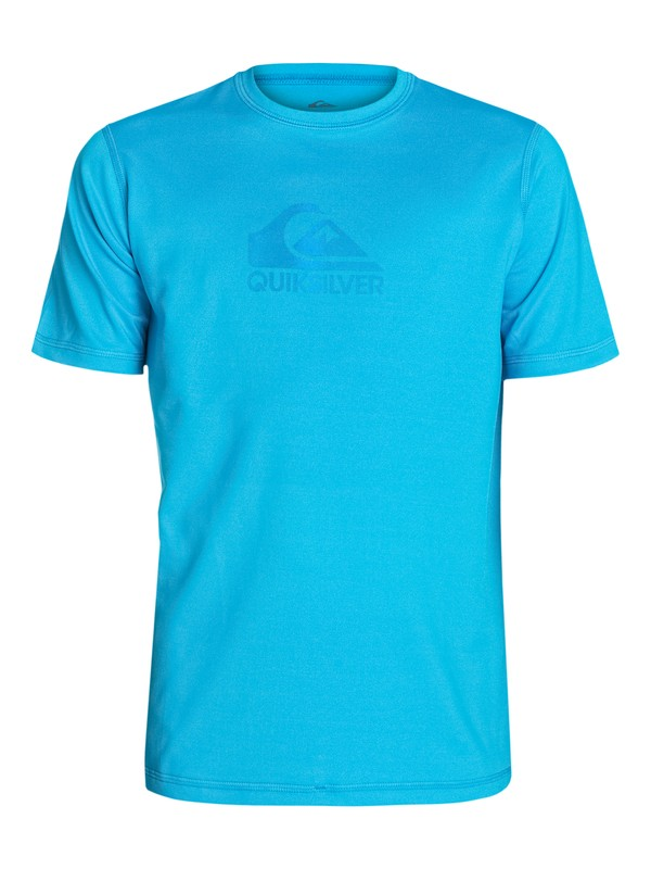 0 Solid Streak Short Sleeve Rash Vest - Surf tee manches courtes anti UV  AQYWR03008 Quiksilver