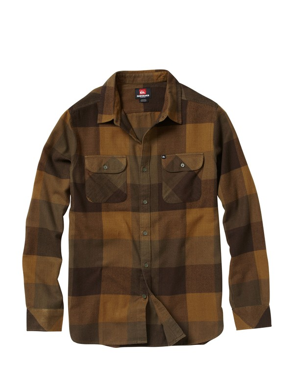 0 Vedder Chedder Long Sleeve Flannel Shirt  AQYWT00101 Quiksilver