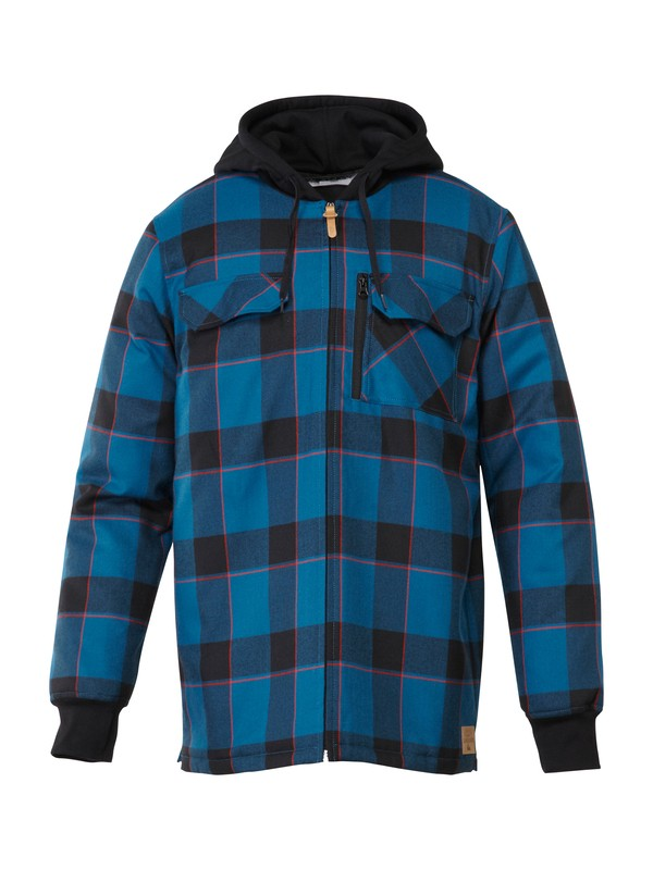 0 Connector Flannel Riding  Shirt Blue AQYWT00129 Quiksilver