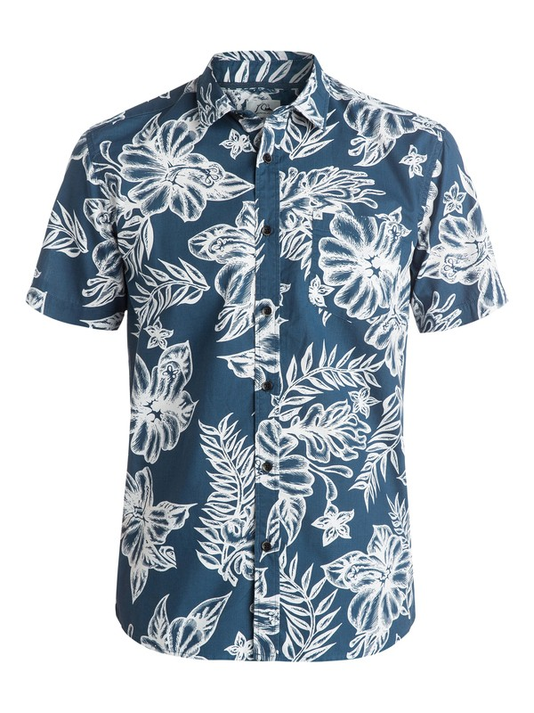 0 Island Time Short Sleeve Shirt  AQYWT03042 Quiksilver