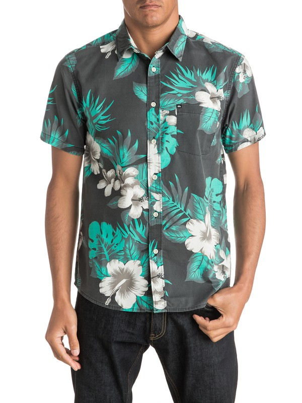 0 Everyday Havana Print Short Sleeve Shirt  AQYWT03086 Quiksilver