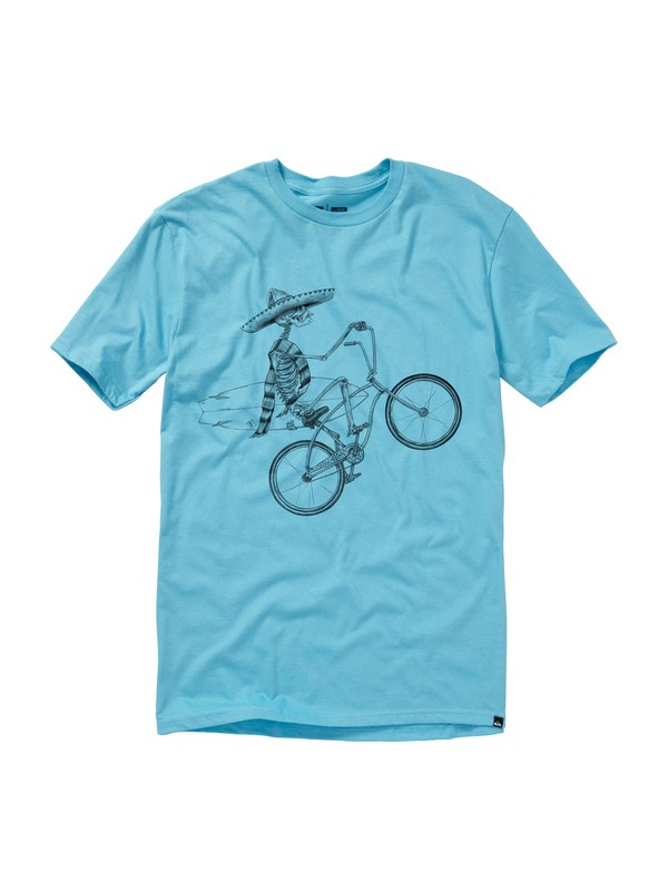 0 Wheelies Slim Fit T-Shirt  AQYZT01129 Quiksilver