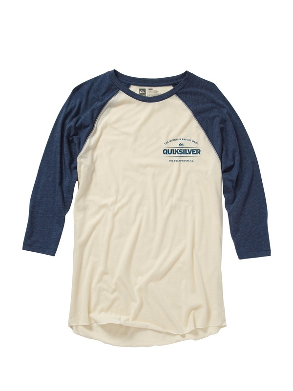 0 Time Travel 3/4 Sleeve Slim Fit T-Shirt  AQYZT01181 Quiksilver
