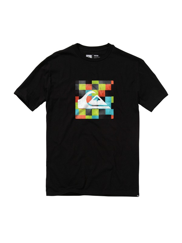 0 Mini Check Slim Fit T-Shirt  AQYZT01471 Quiksilver