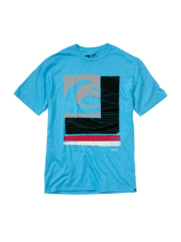 0 Patchwork Slim Fit T-Shirt  AQYZT01481 Quiksilver