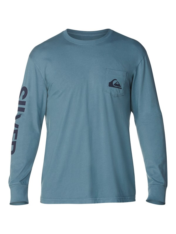 0 Core Logo Slim Fit Long Sleeve T-Shirt  AQYZT03065 Quiksilver