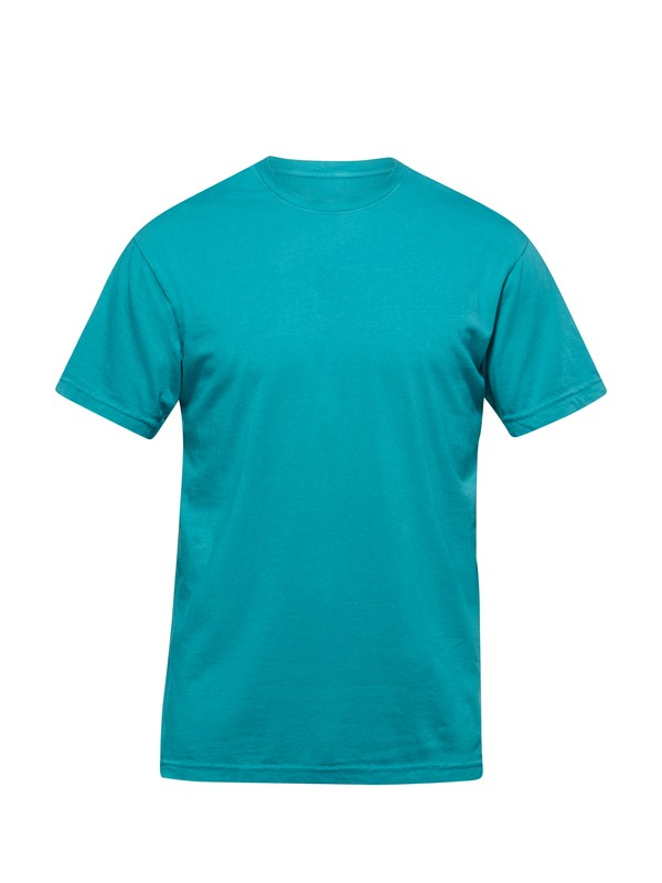 0 Everyday Garment Dyed Crew Slim Fit T-Shirt  AQYZT03094 Quiksilver