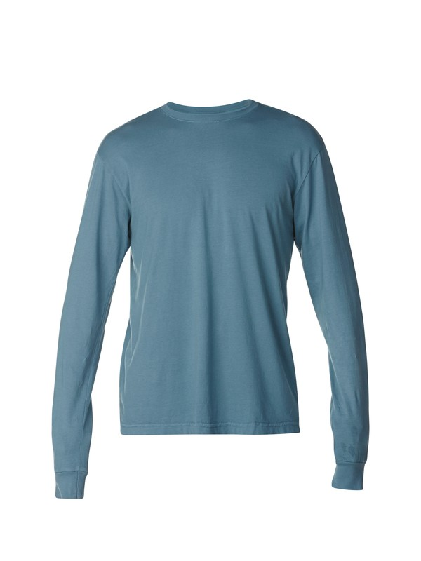 0 Everyday Garment Dyed Long Sleeve Slim Fit T-Shirt  AQYZT03096 Quiksilver