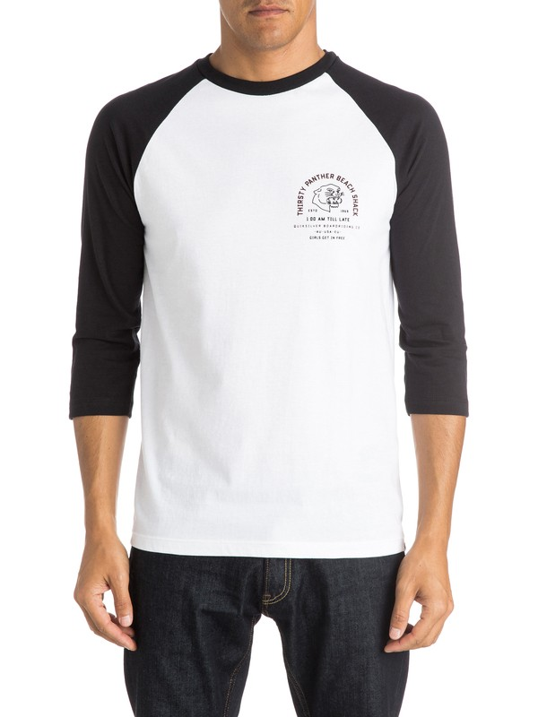 0 Thirsty Panther Raglan T-Shirt  AQYZT04092 Quiksilver