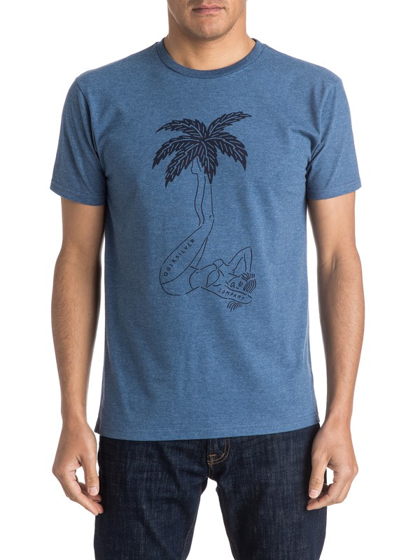 0 Wet Palms Tee  AQYZT04122 Quiksilver