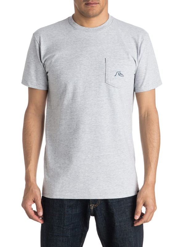 0 Be Square Tee Grey AQYZT04303 Quiksilver