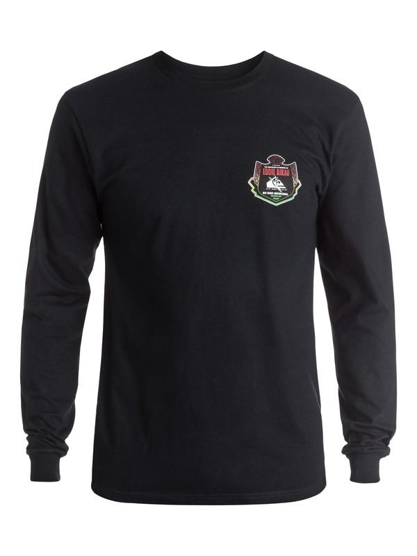 0 Eddie Emblem Long Sleeve Tee Black AQYZT04358 Quiksilver