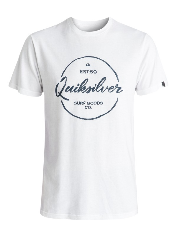0 Silvered Tee White AQYZT04406 Quiksilver