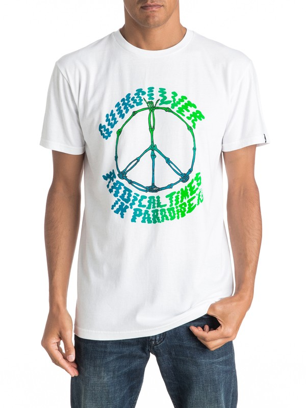 0 Peace Skull Tee  AQYZT04411 Quiksilver