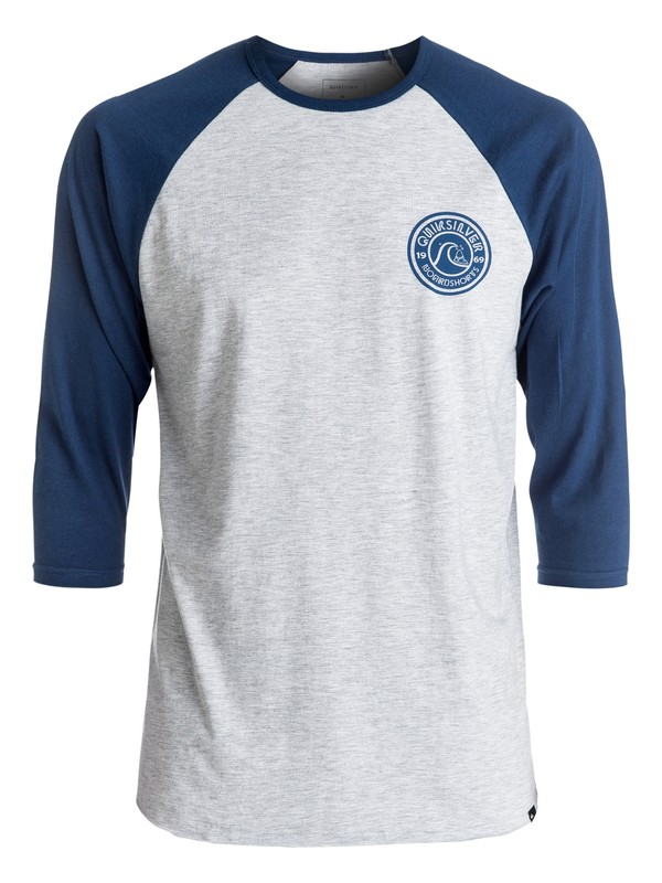 0 Wave Pool Raglan Tee Grey AQYZT04436 Quiksilver