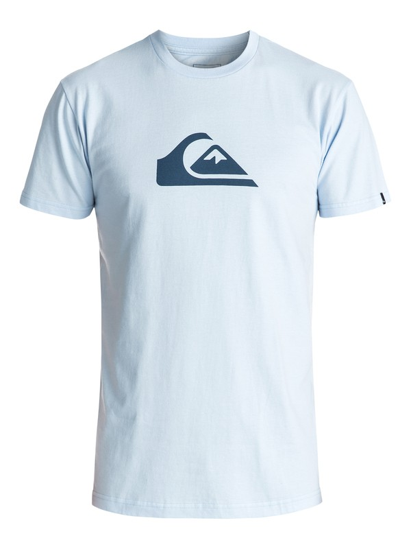 0 Mountain Wave Logo Tee Blue AQYZT04553 Quiksilver