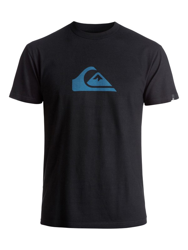 0 Mountain Wave Logo Tee Black AQYZT04553 Quiksilver