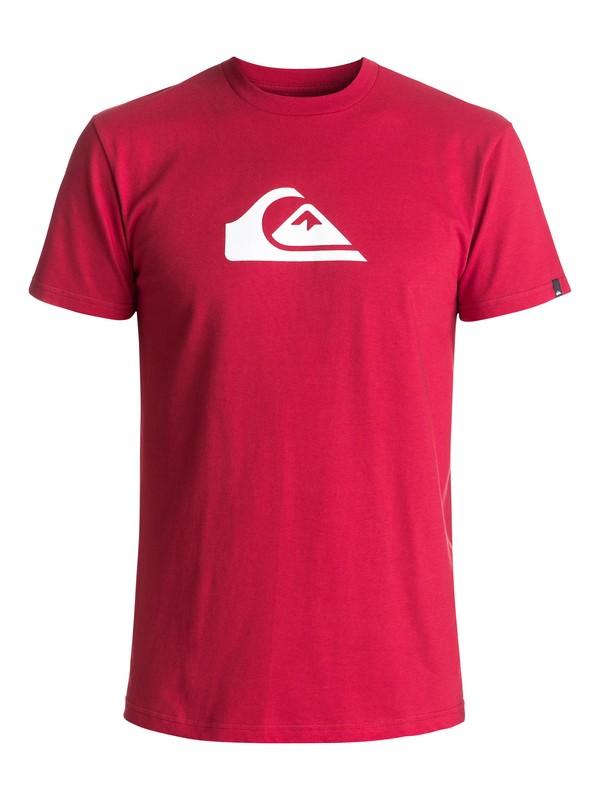 0 Mountain Wave Logo Tee Red AQYZT04553 Quiksilver