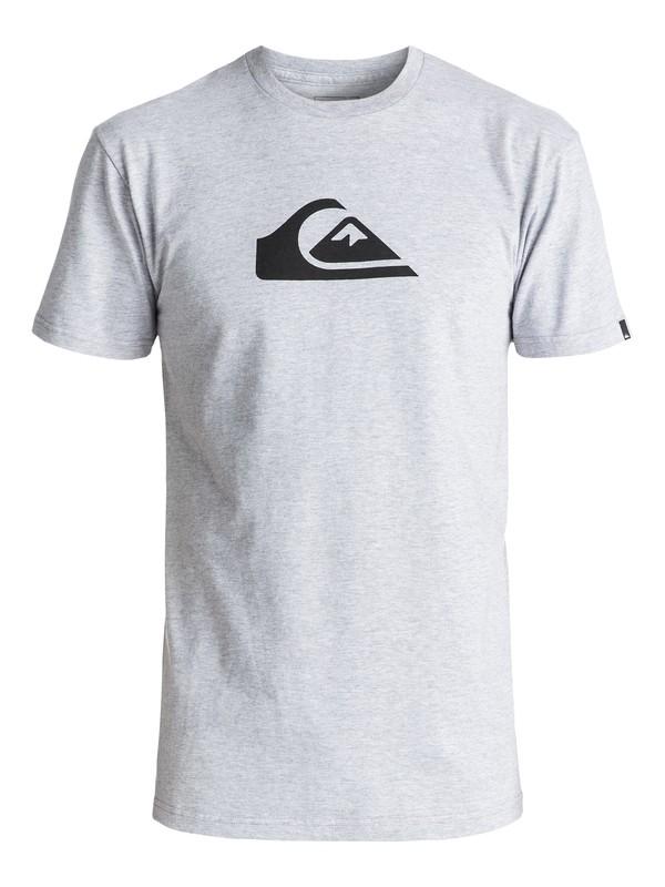 0 Mountain Wave Logo Tee Grey AQYZT04553 Quiksilver